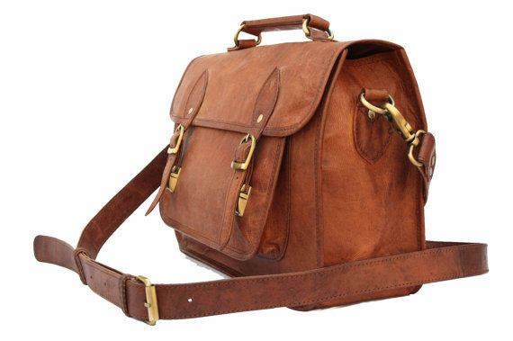 Leather Camera Bag / Satchel / Messenger Bag by LeftoverStudio ...
