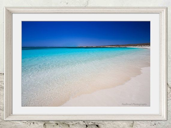 Turquoise Waters Aqua Blue Nautical Beach Marine by NadbradDesigns