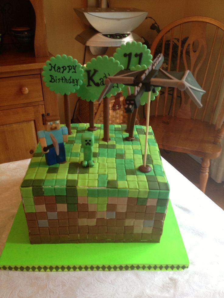 Minecraft Cake Ideas On Pinterest 12550 Minecraft Cake Par