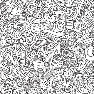 Cartoon Vector Doodles Food Seamless Pattern