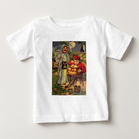 Trick R' Treat (Vintage Halloween Card) Baby T-Shirt - click to get yours right now!