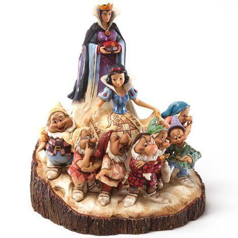 Figurine Blanche-Neige et les 7 Nains - Wood