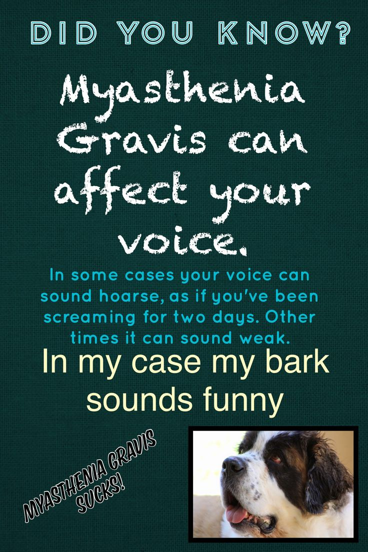 Myasthenia Gravis can affect your voice
