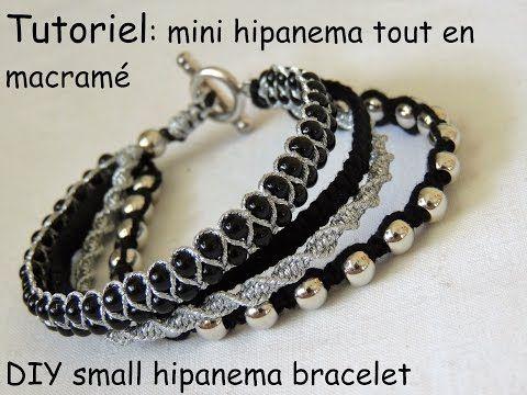 "bracelet inspiration ""mini"" hipanema tout en macramé DIY small hipanema bracelet - YouTube"