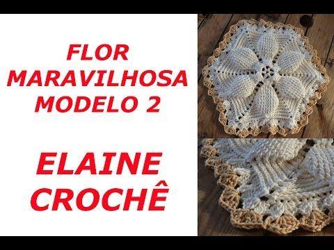 FLOR MARAVILHOSA EM CROCHÊ MODELO 2 - YouTube
