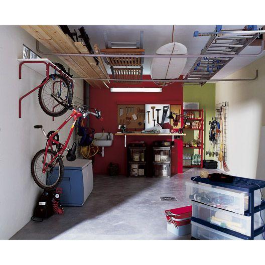 suspente 5 v los mottez garage rangement garage amenagement garage et rangement v lo garage. Black Bedroom Furniture Sets. Home Design Ideas