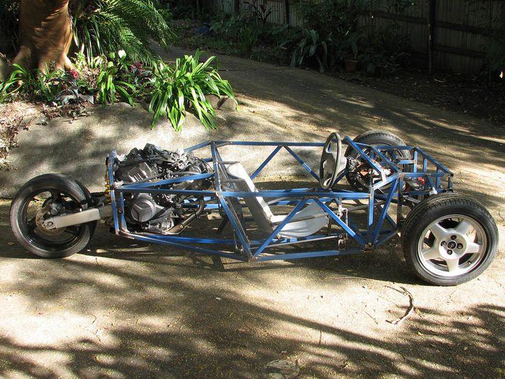 Three Wheeler Frame : Build a wheel car reverse trike motorcycle frame