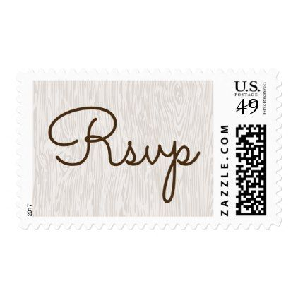 Modern Rustic Woodgrain Wedding Postage Stamp - wood wedding style nature diy customize personalize marriage