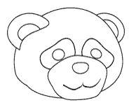Panda Bear Face Mask Coloring Sheet