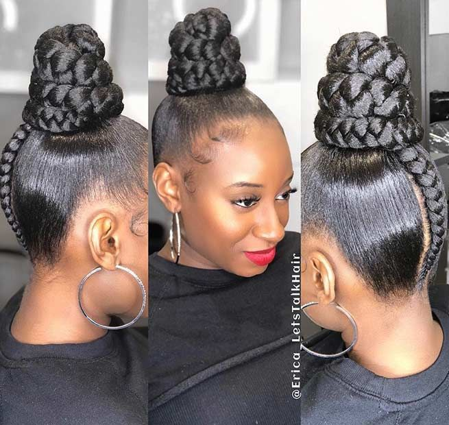 25 Braid Hairstyles With Weave That Will Turn Heads Stayglam Black Hair Updo Hairstyles Natural Hair Styles Weave Hairstyles Braided