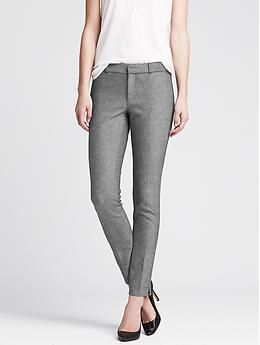Sloan-Fit Charcoal Slim Ankle Pant -- I like the idea of a grey like this, a little nicer than jeans, but not as dressy as black.