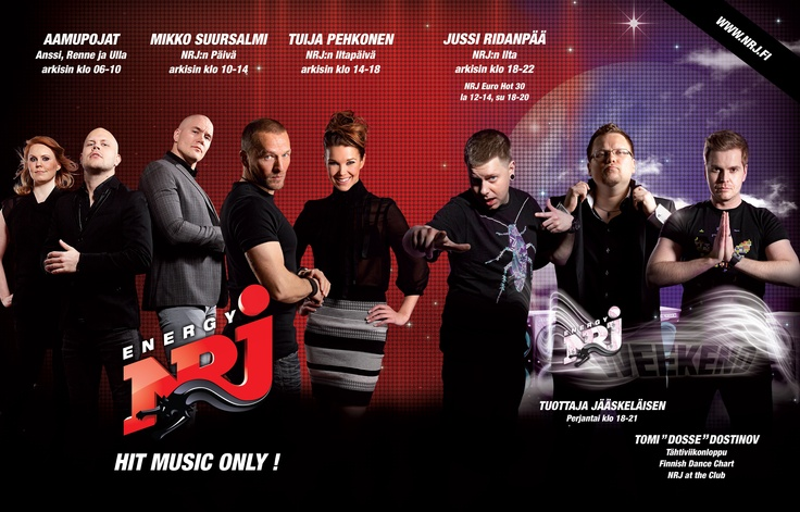 NRJ - Hit music only! 24/7 - double page ad