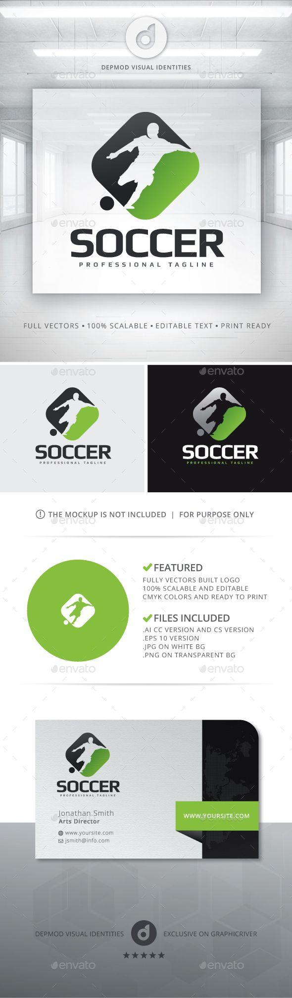 Soccer Logo Template Vector EPS, AI. Download here: http://graphicriver.net/item/soccer-logo/13454654?ref=ksioks