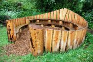 .Lovely outdoor play area for kids.  A good spot for some quiet contemplation.