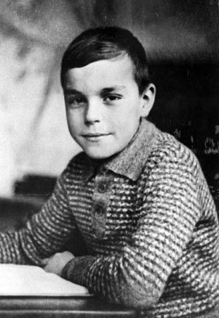 Young Helmut Kohl (age 6-7). Chancellor of Germany from 1982 to 1998, widely regarded as one of the main architects of the German reunification 1990