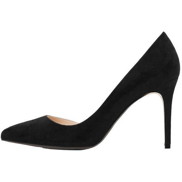 MANGO Stiletto Shoes (1,075 EGP) ❤ liked on Polyvore featuring shoes, pointy stilettos, high heeled footwear, pointy high heel shoes, mango shoes and pointed stilettos