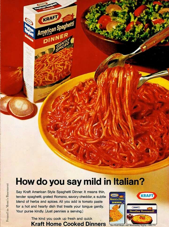 Kraft American Spaghetti Dinner.