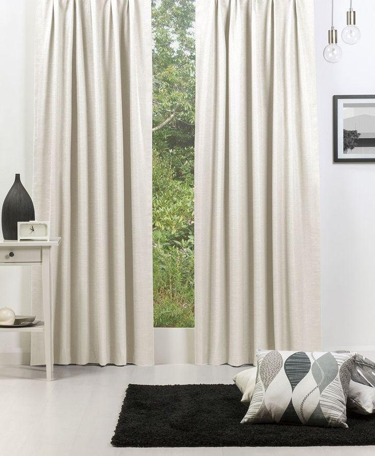 Broome (Blockout) Pencil Pleat Curtain - Parchment #Curtains