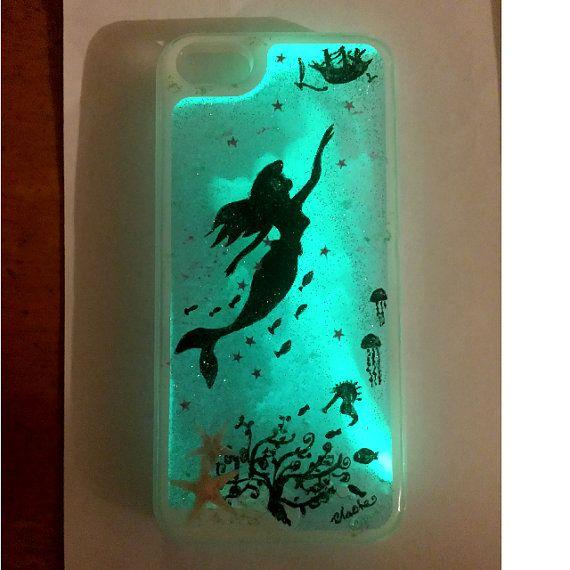 Glow In The Dark Liquid Glitter Phone Case by ChaChaLifeCraft