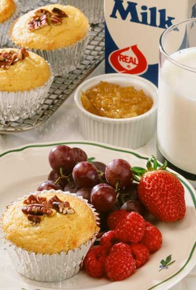 Recipe - Orange-Pecan Cornmeal Muffin