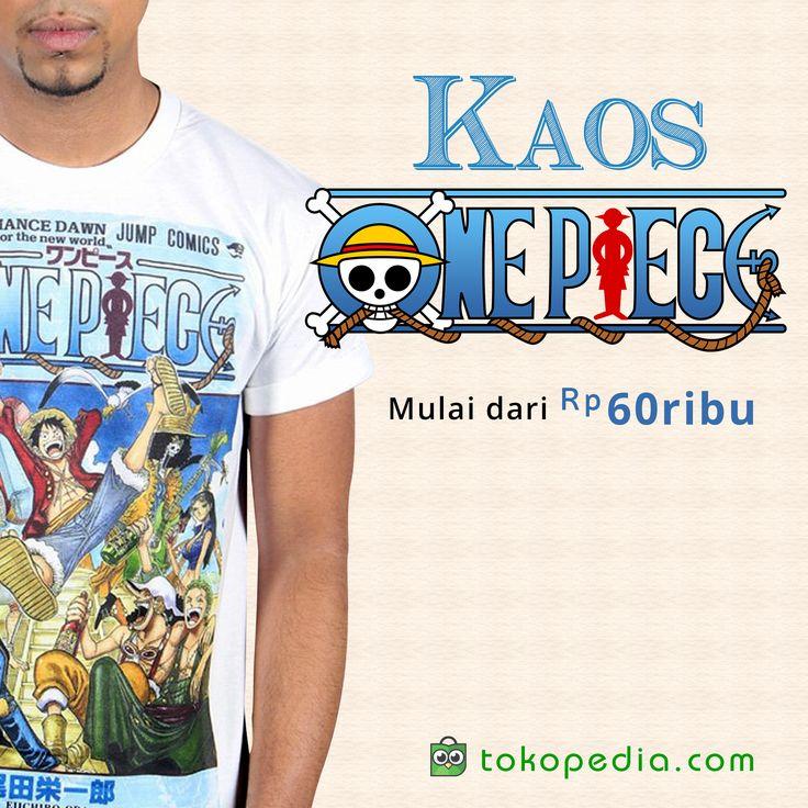 Suka nonton anime atau baca manga One Piece? Koleksi juga aneka Kaos One Piece bergambar anggota-anggota Straw Hat Pirates dan para bajak laut lainnya!  Dapatkan berbagai Kaos One Piece, mulai dari Rp 60.000,- di https://www.tokopedia.com/hot/kaos-one-piece