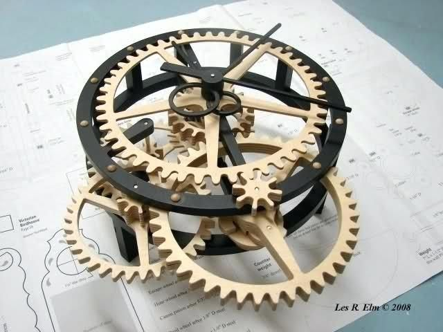 wooden gear clocks for