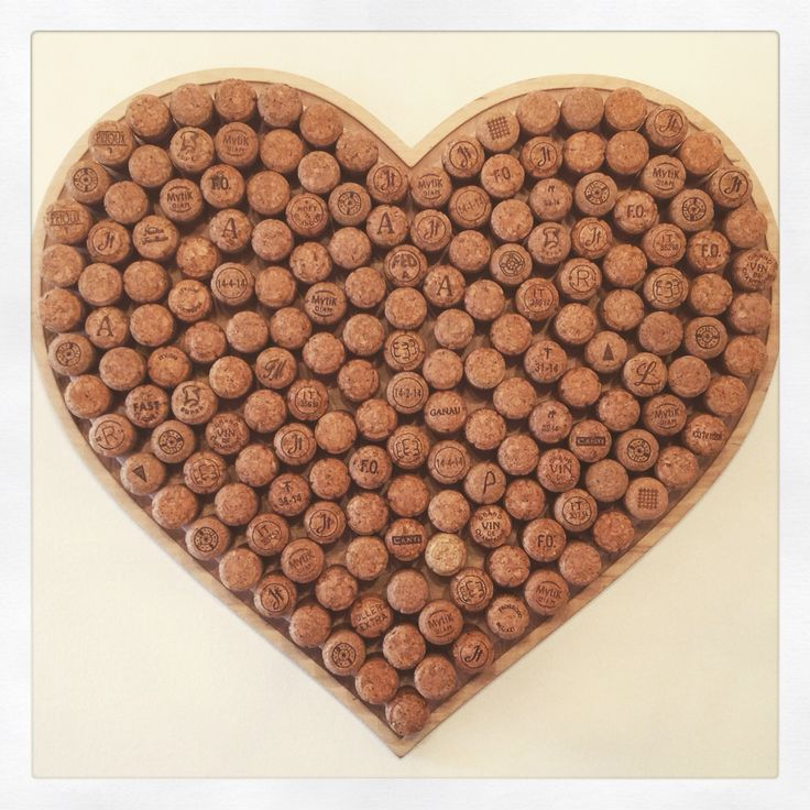 My very own cork heart (177 prosecco & champagne corks glue gunned onto a heart shaped wooden board) #CorkHeart #Project