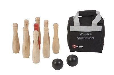 New wooden #skittles set 9 pin #bowling #skittles set #skittles pins #balls and bag,  View more on the LINK: 	http://www.zeppy.io/product/gb/2/262175232251/