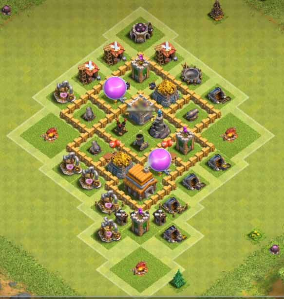 Best War Base Th 5 Coc 10