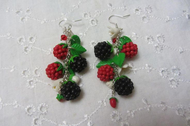 wild berries earrings/ серьги лесные ягоды