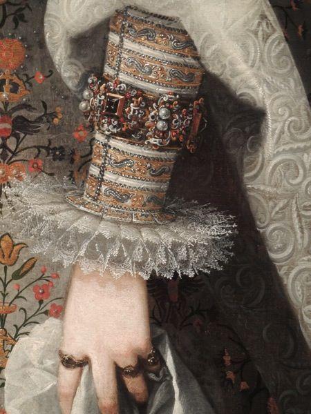 Margaret of Austria, Queen Consort of Philip III of Spain, Juan Pantoja de la Cruz, c1605. Photo: Melanie Clegg. WOMEN'S JEWELRY http://amzn.to/2ljp5IH