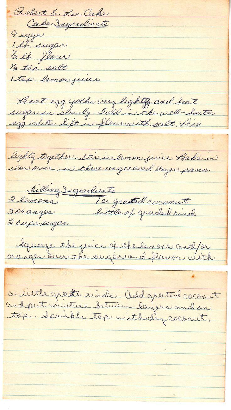 Robert E Lee Pound Cake Recipe