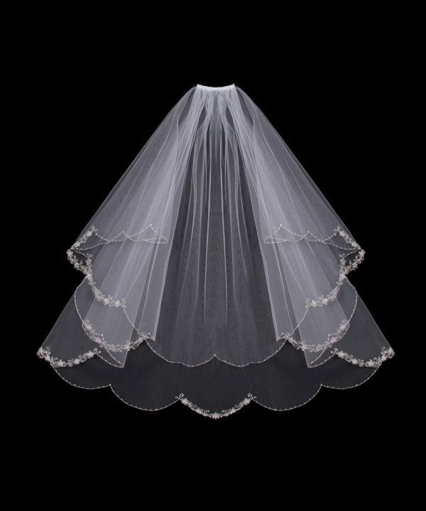 Embroidered Flowers Wedding Veil