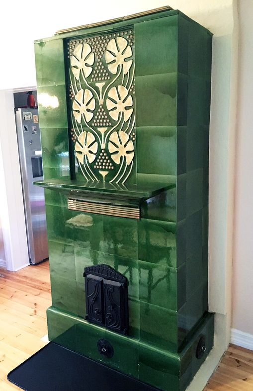 I made some new tiles for this old tile stove.