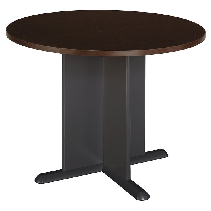 Bush Business Furniture Series C 42 Inch Round Conference Table in Cherry