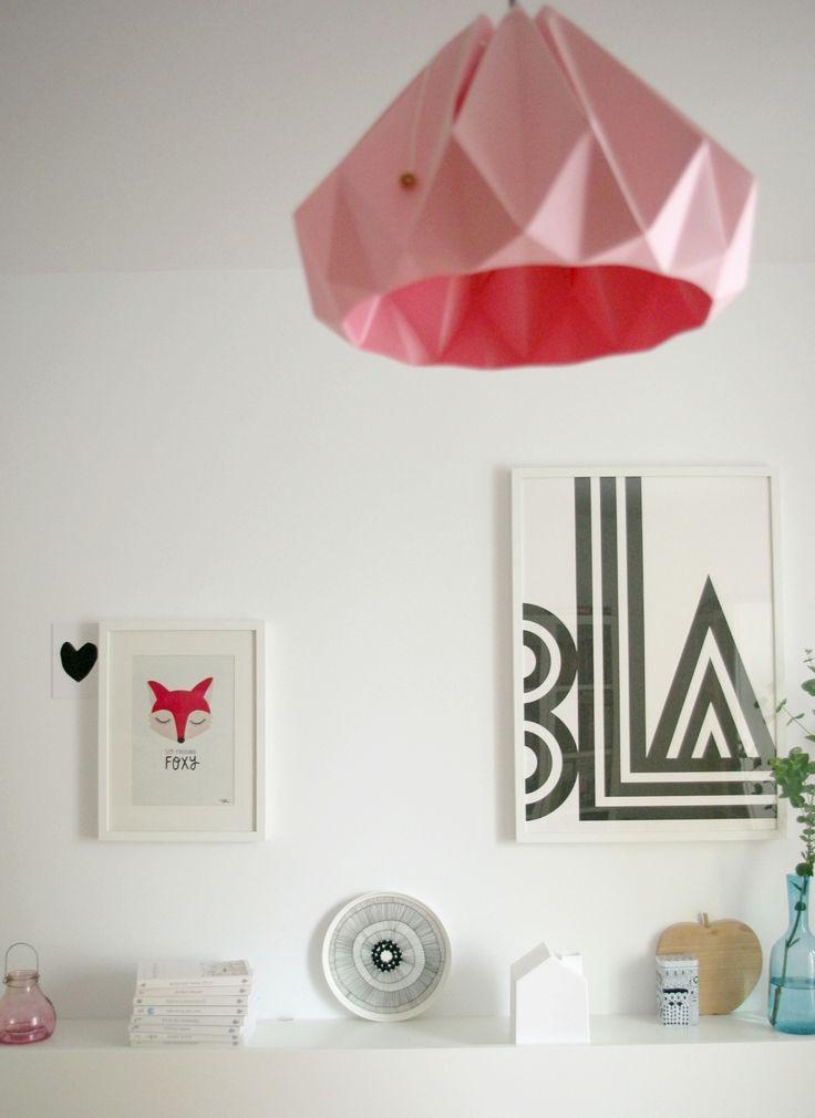 Bedroom. Small Talk poster. So Fucking Foxy poster. Marimekko plate. Chestnut lamp.