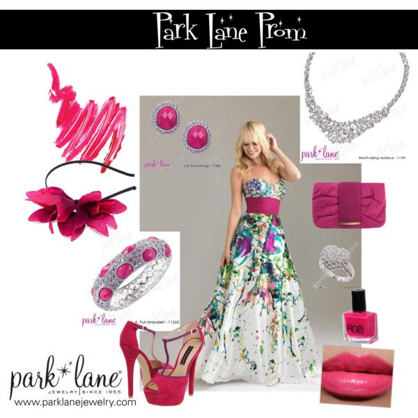 Park Lane Prom, created by parklanejewelry on Polyvore  Park Lane Jewelry featured: L.A. Fun earrings & bracelet, Breathtaking necklace & Destiny ring
