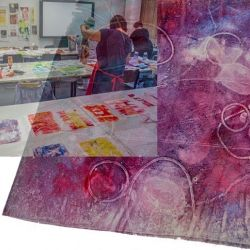 Paula Steiner, Monotypie auf Stoff: Drucken mit Gelatineplatten (P. Steiner)