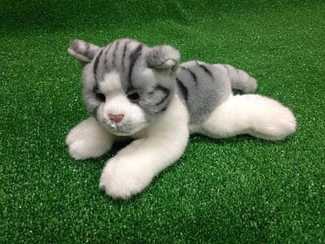 CUDDLY CRITTERS SOFT PLUSH GREY CAT MONTY I COOL CAT COLLECTABLES