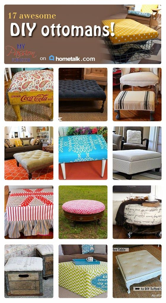 These 17 awesome DIY ottomans will impress your guest!