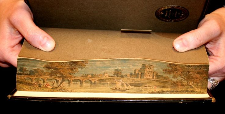 """Fore-edge painting found on """"Scottish Poems of the Sixteenth Century"""" published in 1801"""