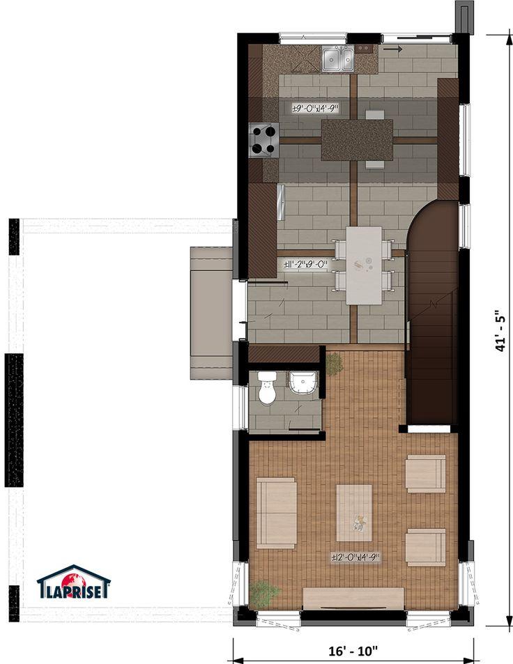 Designer, Zen / Contemporain | LAP0520 | Maison Laprise - Maisons pré-usinées