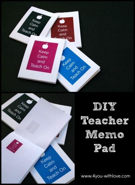 DIY Teacher Appreciation Memo Pad