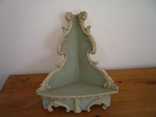 Pequeno-Vintage-Shabby-Chic-De-La-Esquina-Estante-Unidad-Pintado-a-Mano-Hermosa-gustavian