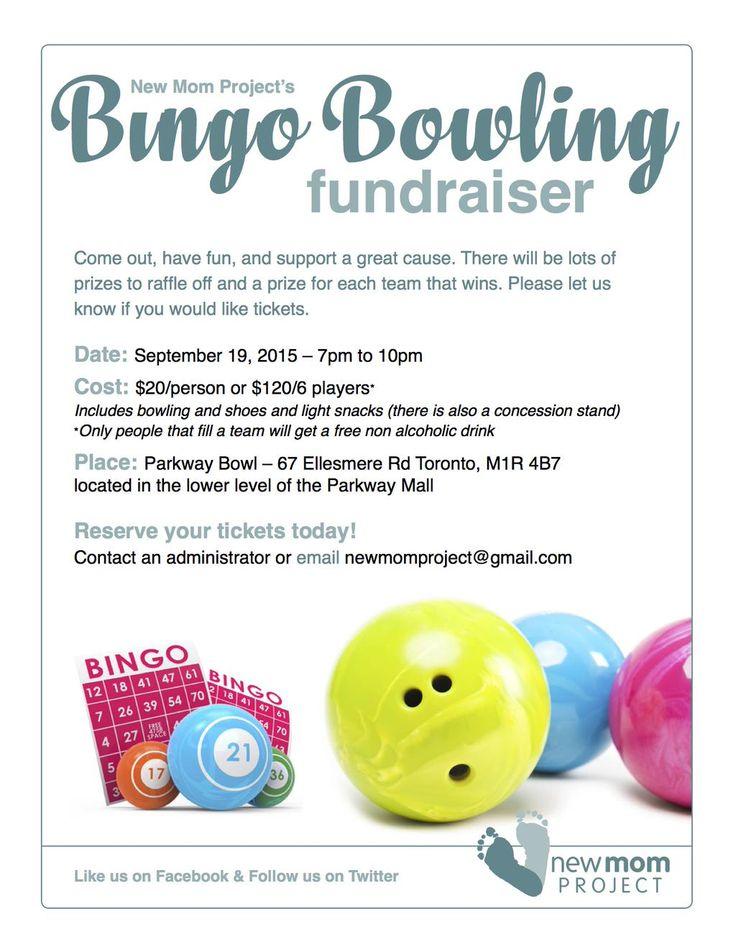 Join us for a bing bowling fundraiser September 19th 7pm at Parkway Bowling! #fundraising #FUNdraising #bingobowling