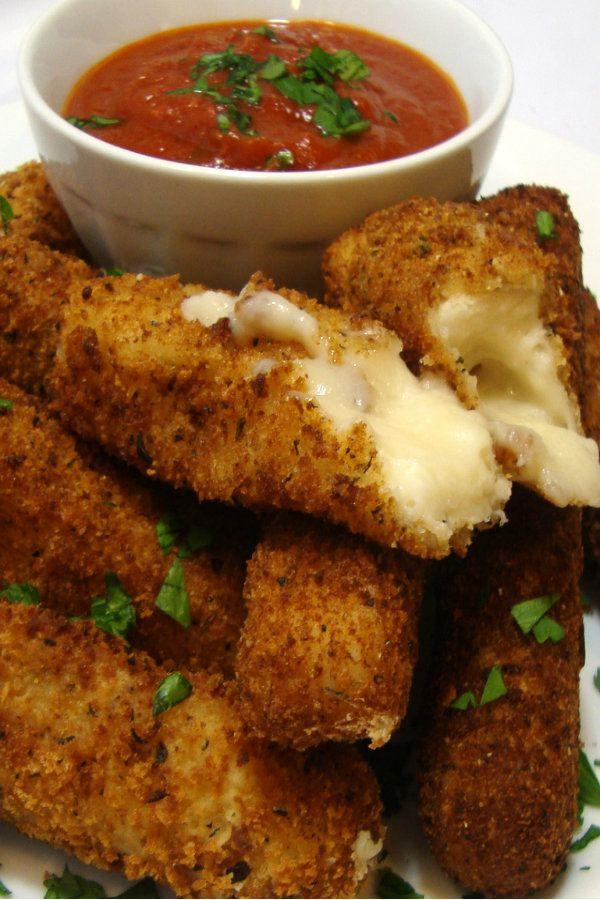 Fried Mozzarella Sticks (vegan)