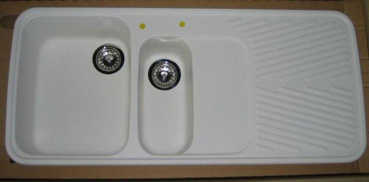 SCHOCK Granit-Spüle Einbauspüle 112x50 cm WEISS / GRAU / BEIGE / SCHWARZ