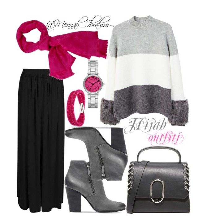 """""""#Hijab_outfits #modesty #BP2"""" by mennah-ibrahim on Polyvore featuring MANGO, Boohoo, Louis Vuitton, MICHAEL Michael Kors, 3.1 Phillip Lim, Marc Jacobs and Swarovski"""