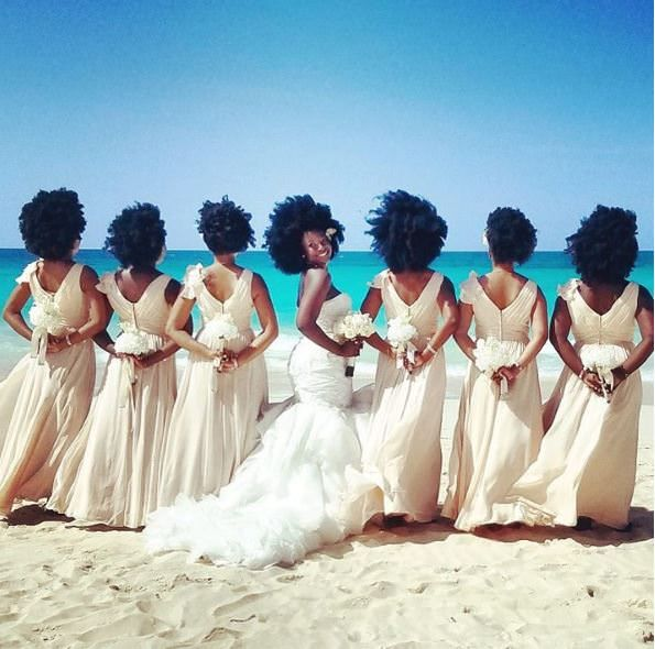 Black Bridal Party With Beautiful Voluminous Afros Goes Viral - https://blackhairinformation.com/general-articles/news-stories/black-bridal-party-beautiful-voluminous-afros-goes-viral/