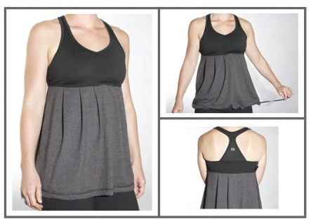 Organic cotton and reprieve polyester active tank by Chick'd. $62 #running #yoga